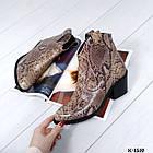 Женские зимние ботинки казаки бежевого цвета, натуральная кожа (под заказ 7-16 дней), фото 4