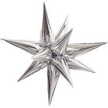 3 D Зірка серебро фольгована 65*65  Китай