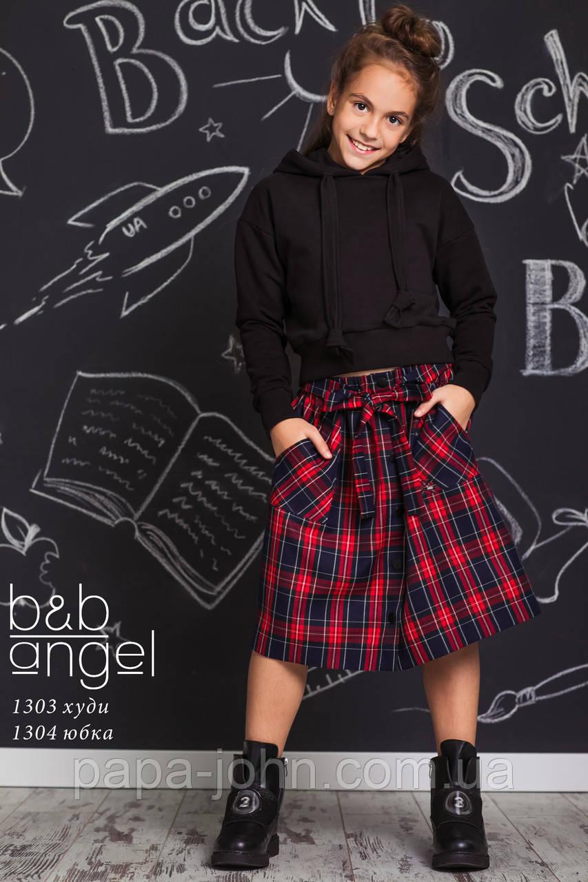 Худі з капюшоном, чорний, B&B Angel, р. 140 146 152
