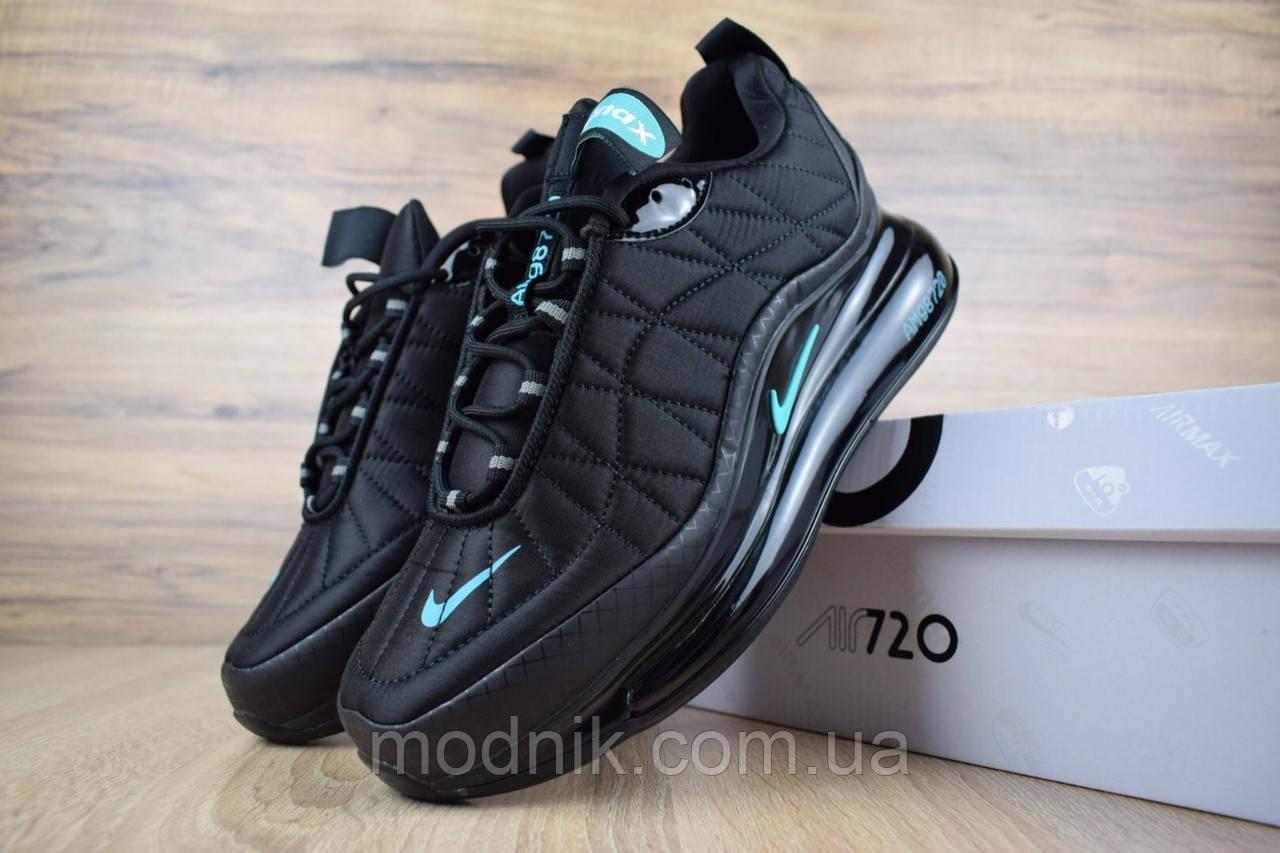 Мужские зимние кроссовки Nike Air MAX 720-818 (черно-бирюзовые)