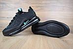 Мужские зимние кроссовки Nike Air MAX 720-818 (черно-бирюзовые), фото 5
