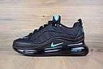 Мужские зимние кроссовки Nike Air MAX 720-818 (черно-бирюзовые), фото 6