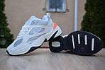 Женские зимние кроссовки Nike M2K Tekno (бежево-оранжевые), фото 2