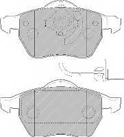 Колодки гальмівні дискові Место установки: передний мост; параметр: 252011; ПЕРЕДН AUDI A4 00-. A6 97-05. SKOD
