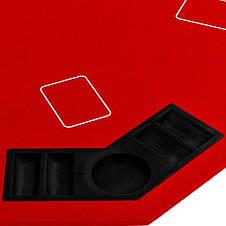 Накладка для игры в покер Pro Poker Compact 122x122 см Красный, фото 3