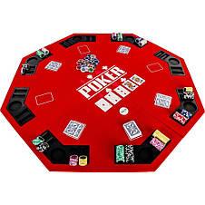 Накладка для игры в покер Pro Poker Compact 122x122 см Красный, фото 2