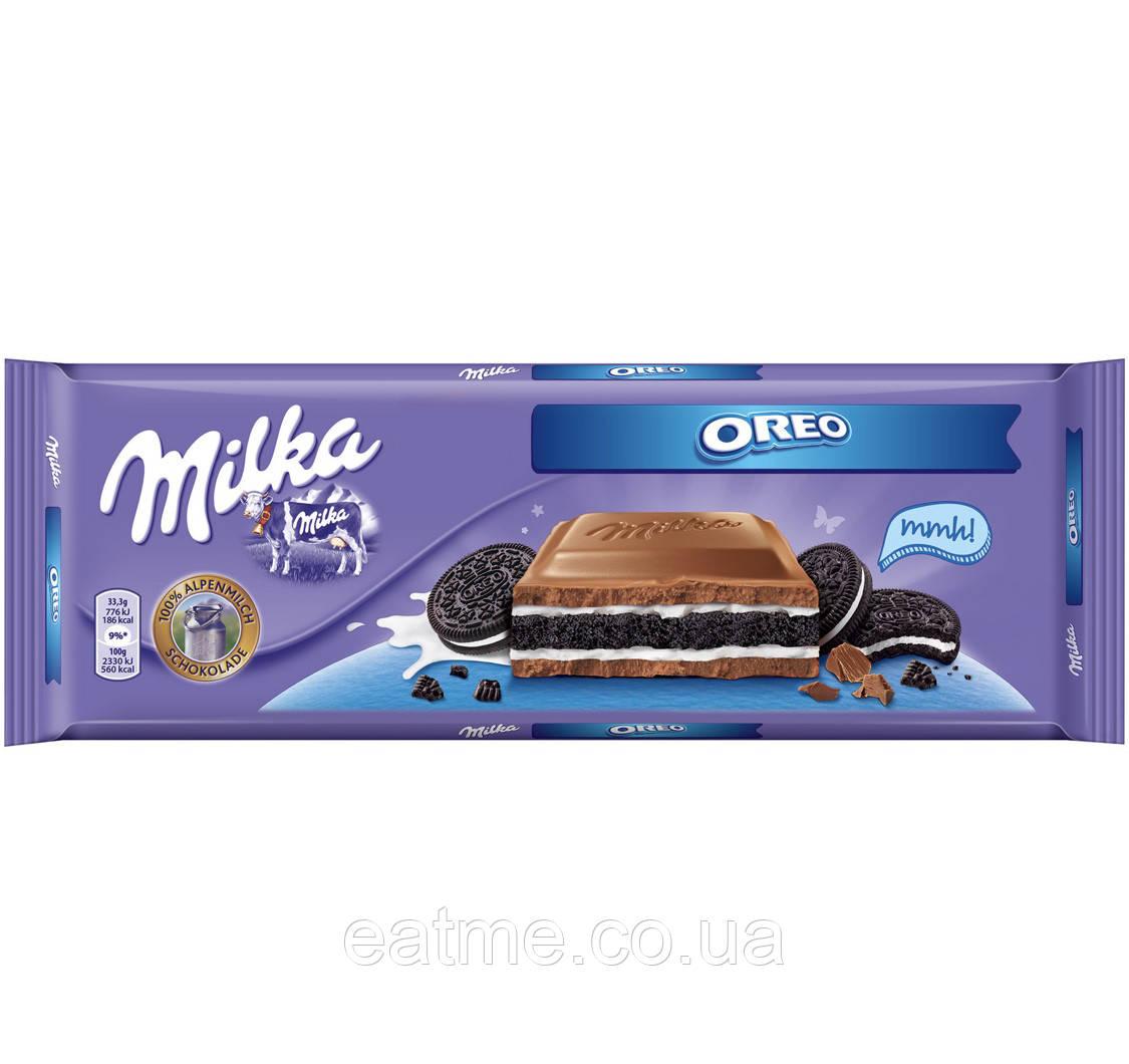 Milka Oreo Молочный шоколад с печеньем Oreo