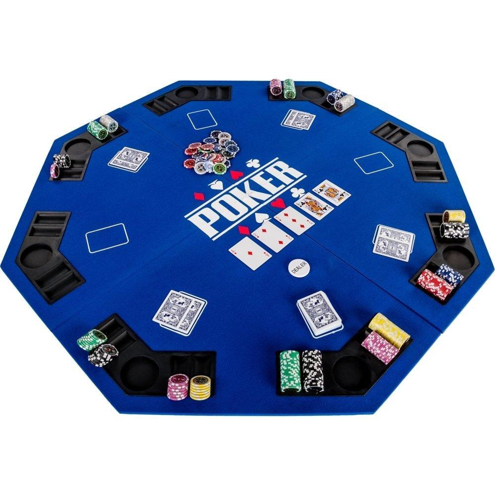 Накладка для игры в покер Pro Poker Compact 122x122 см Синий