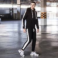 Теплый спортивный костюм Lampas черный на флисе