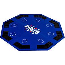 Накладка для игры в покер Pro Poker Compact 122x122 см Синий, фото 2