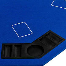 Накладка для игры в покер Pro Poker Compact 122x122 см Синий, фото 3