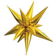 3 D Зірка золота фольгована 65*65 Китай
