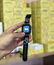 Детские умные смарт-часы с GPS трекером синие Kids Smart Watch with Blue, фото 3