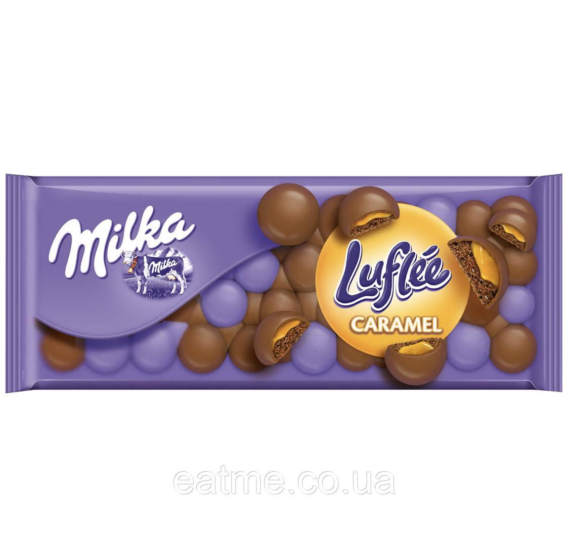 Milka Luflée Caramel Молочный пористый шоколад с карамелью