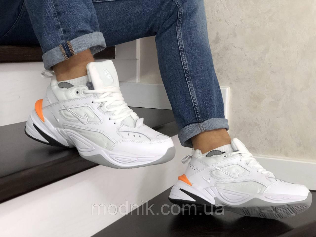 Мужские зимние кроссовки Nike Air Monarch (белые)