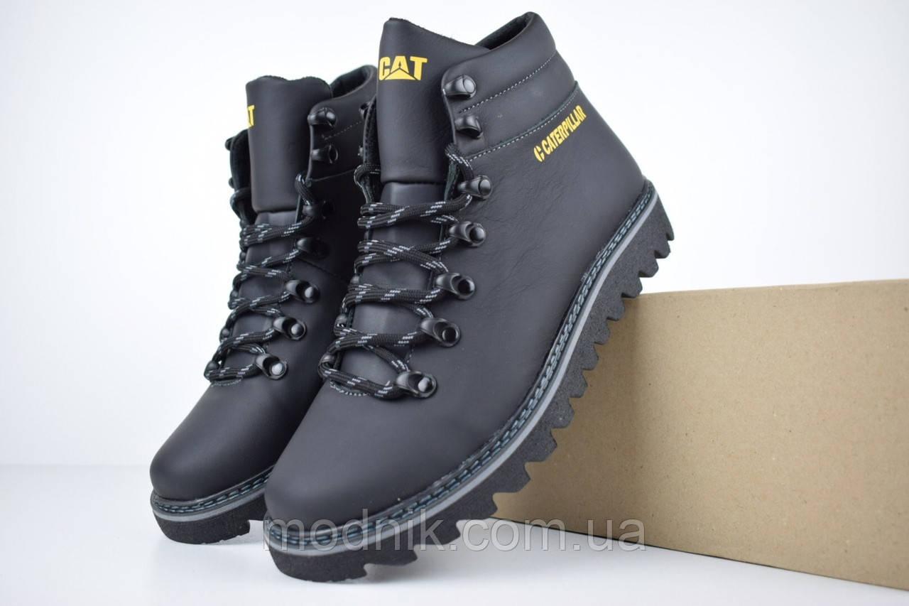 Мужские зимние ботинки Caterpillar (CAT) - черные