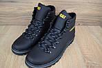 Мужские зимние ботинки Caterpillar (CAT) - черные, фото 9