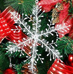 Новогоднее украшение Снежинка средняя, 3шт