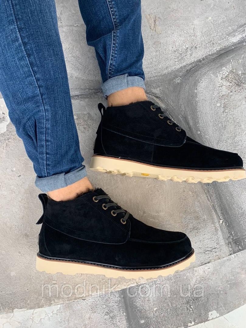 Мужские зимние ботинки UGG David Beckham Boots (черные)