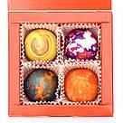 Шоколадные конфеты ручной роботы *Красная коробка на 4шт.*, фото 4