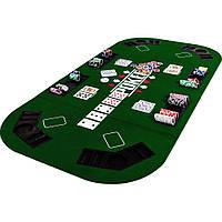 Складной покерный стол Pro Poker Compact 160x80 см Зеленый (830889)