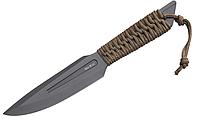 Нож для метания металл + плетеный шнур на рукояти устойчив к царапинам черное лезвие + чехол для тренировок