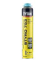 Піна-клей для пінополістеролу професійна O2 Styro 753 GUN B3 TYTAN 750 мл   /12шт/