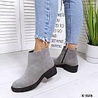 Женские зимние ботинки серого цвета, натуральная замша (под заказ  7-16  дней), фото 6