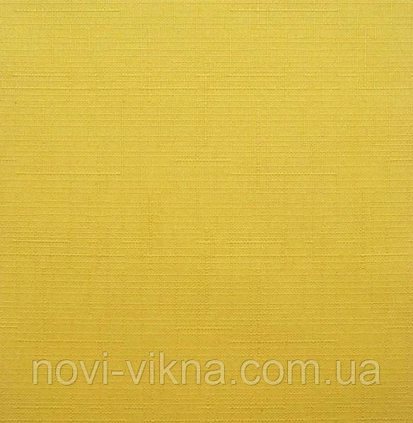 Рулонные жалюзи закрытого типа, Len 0858, желтые.