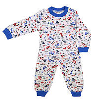 Пижама детская трикотаж 62-74 (3-9м.) Арт.2001 транспорт, 5 кол