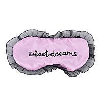 "Шелковая маска для сна ""Sweet Dreams Pink"". Повязка для сна. Маска на глаза для сна. Маска для сну"