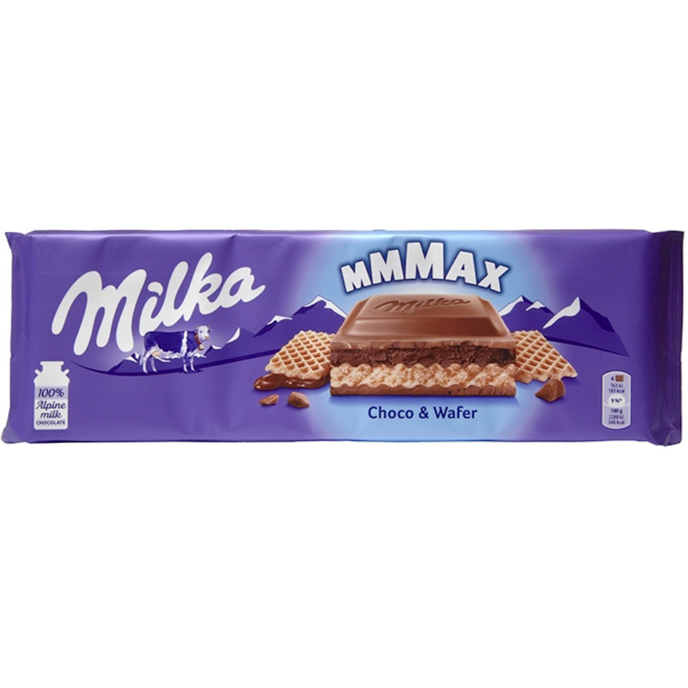 Milka Choco&Wafer Молочный шоколад с вафельной начинкой