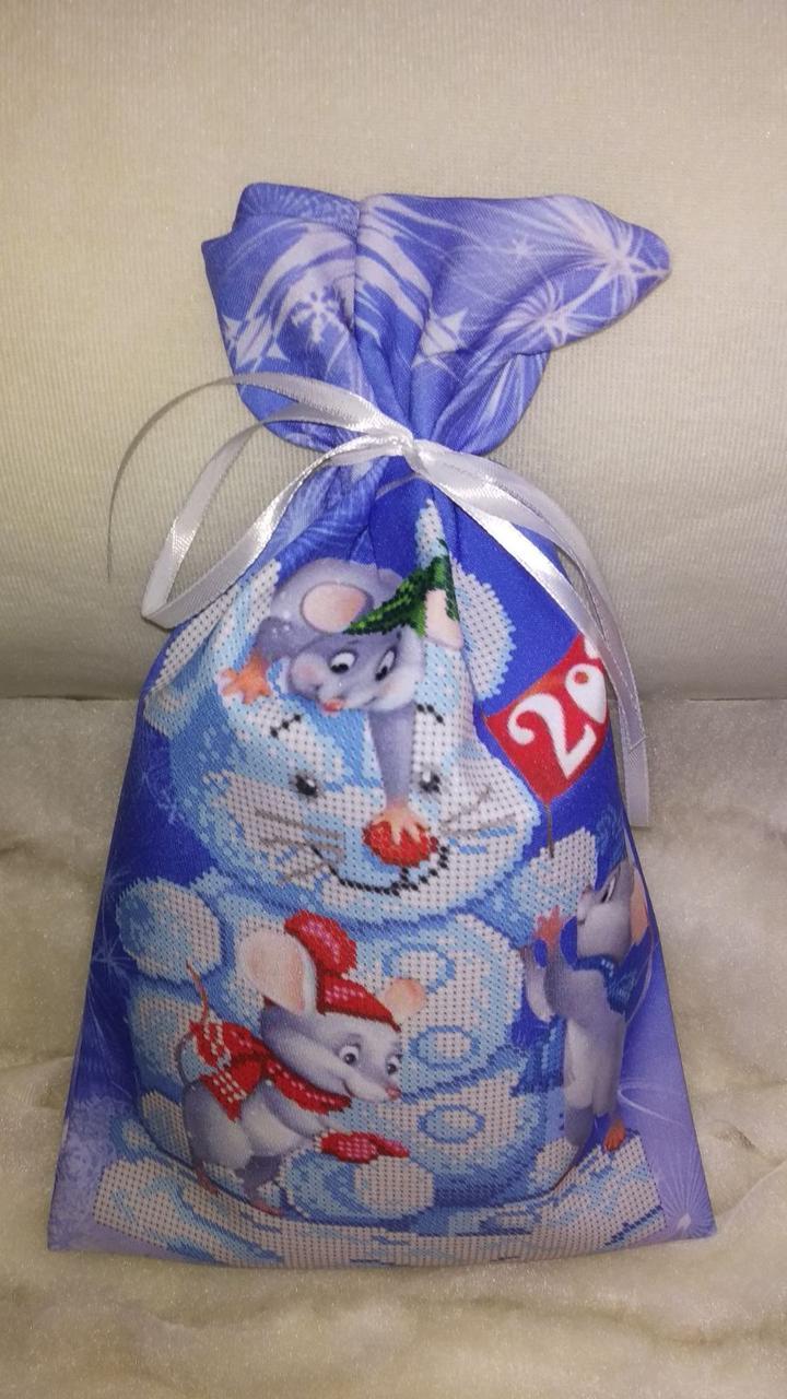 Подарочный мешочек  Праздничное веселье (48*41,5)