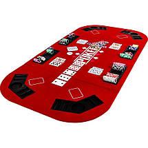 Складной покерный стол Pro Poker Compact 160x80 см Красный (830890), фото 2