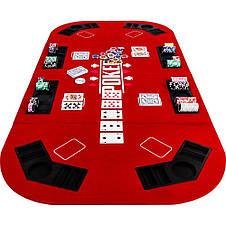 Складной покерный стол Pro Poker Compact 160x80 см Красный (830890), фото 3