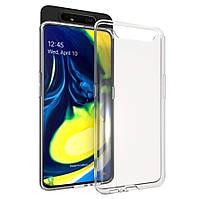 Прозрачный силиконовый чехол для Samsung Galaxy A80 2019 A805