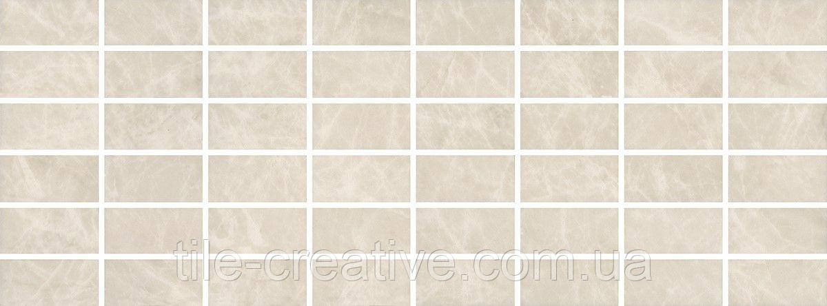 Керамическая плитка Декор Лирия беж мозаичный15x40x6,9 MM15138