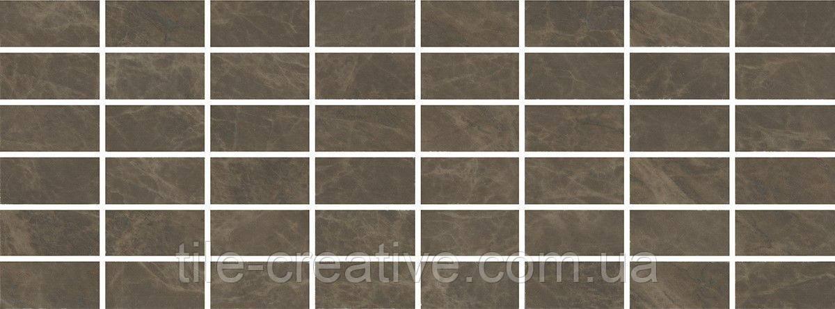 Керамическая плитка Декор Лирия коричневый мозаичный15x40x6,9 MM15139