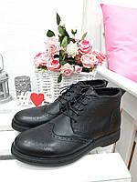Черные мужские ботинки 7207-28