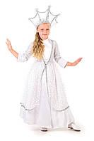 Детский карнавальный костюм для девочки Зимушка-зима «Царская» 130-140 см, белый, фото 1