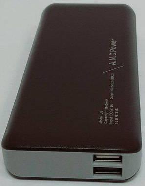 Повербанк A.N.D 16000 mah Power Bank внешний аккумулятор АНД U5, фото 2