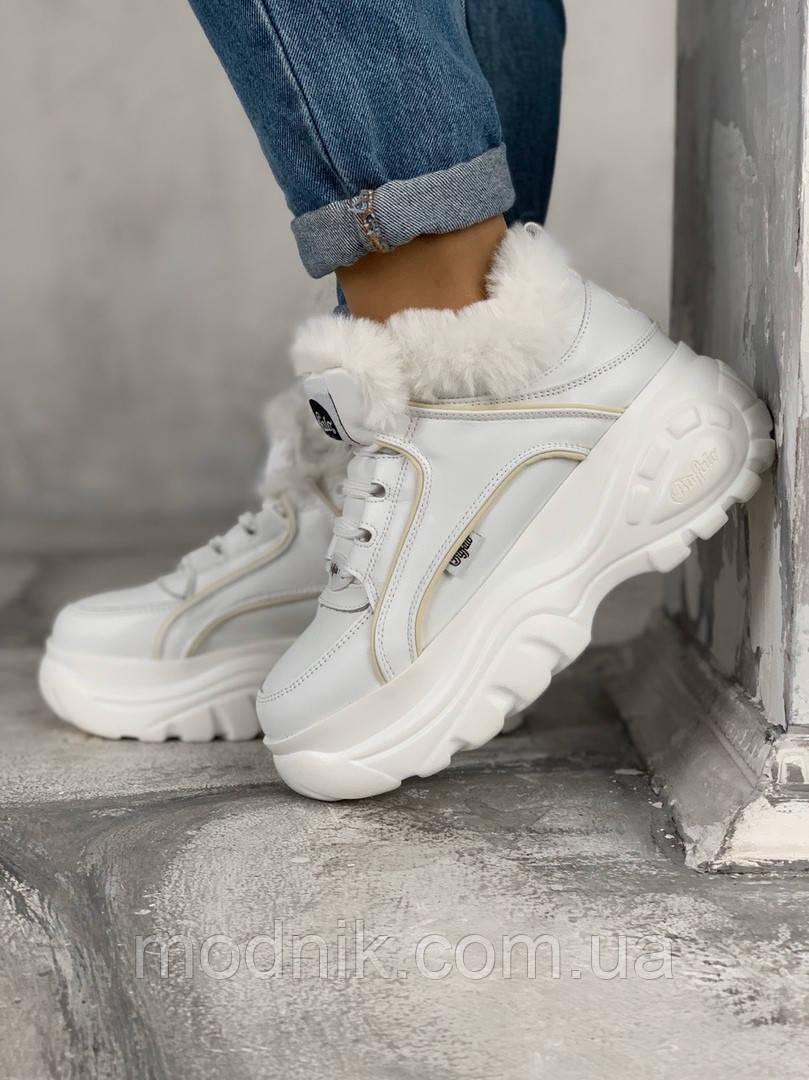 Женские зимние ботинки Buffalo (белые)