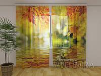 ФотоТюль Золотые листья