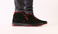 Ботинки зимние Levis мужские, черные, в стиле Левис, натуральный нубук, полушерсть, код FS-7610