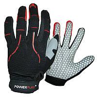 Велоперчатки без пальцев В Чорно-Червоні M
