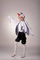 Детский карнавальный костюм для мальчика «Журавль» 100-120 см, бело-серый, фото 1