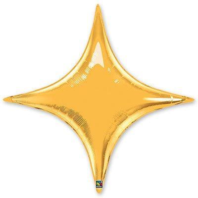 4 кутна зірка золота  фольгована 70*70 Китай