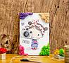 Картина по номерам из мха Девочка с фотоаппаратом А4