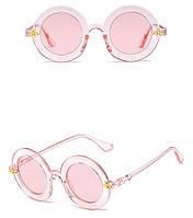 Имиджевые очки круглые розовые
