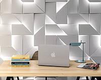 """Гипсовая 3d панель для стен """"LED IQ"""" (декоративная стеновая 3д панель)"""